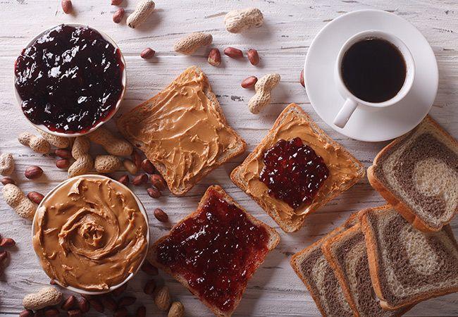 10 fyllnings toast slag enligt 100 kalorier