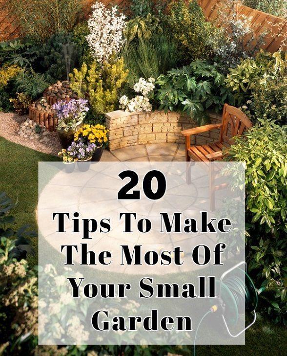 20 tips för att göra det mesta av din liten trädgård