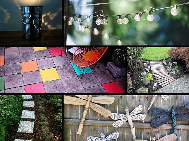 32 Genius idéer för att försköna din trädgård på en budget