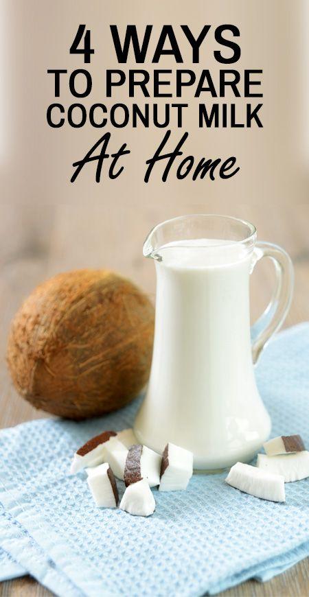 4 enkla sätt att förbereda kokosmjölk hemma