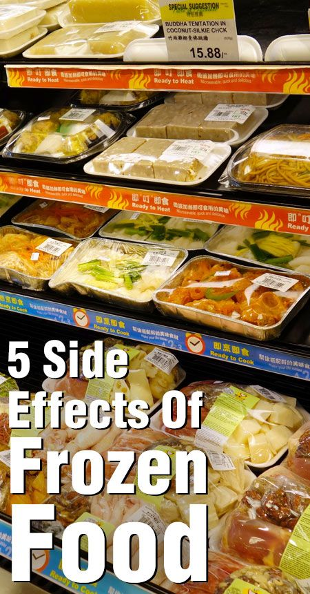 5 Oväntade biverkningar av frysta livsmedel