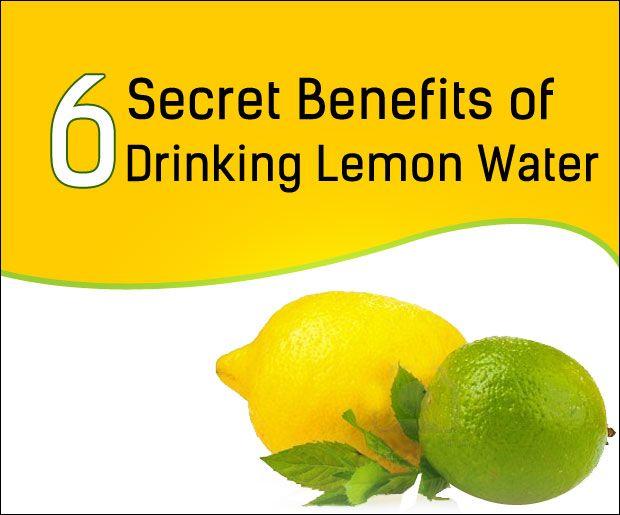 6 hemliga fördelarna med att dricka citron vatten