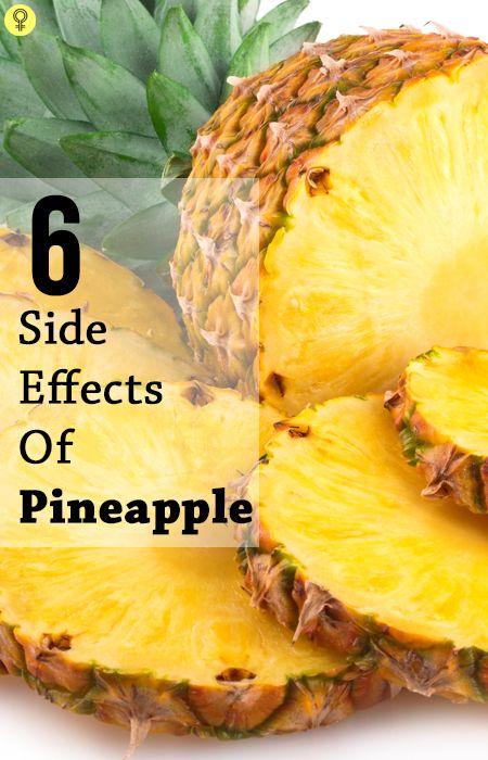 6 Allvarliga biverkningar av ananas