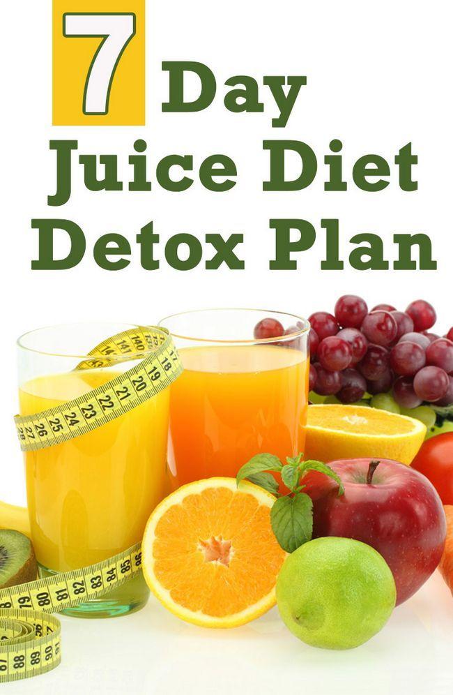 7 Dag juice diet detox planen