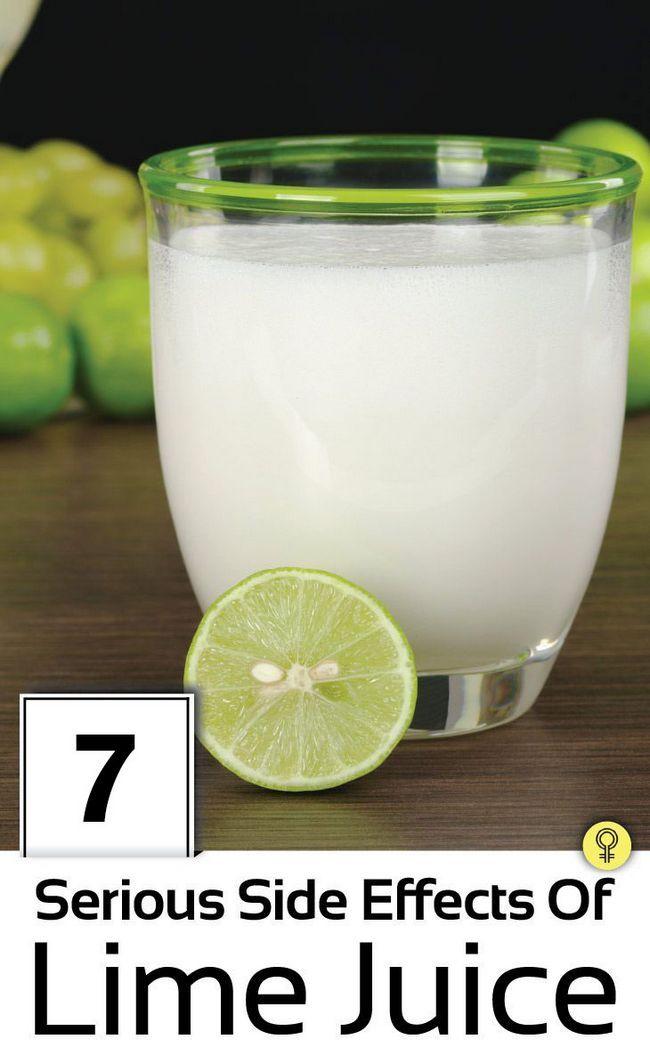 7 Allvarliga biverkningar av limejuice