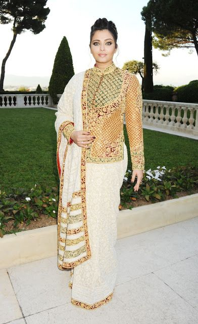 Aishwarya Rai i Cannes 2012: klänning, makeup uppdelning