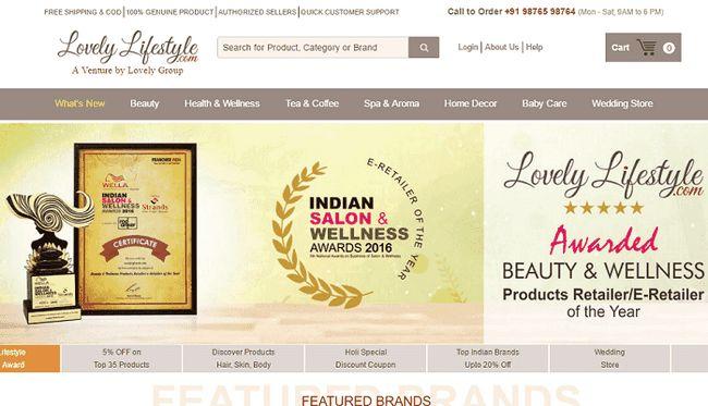 Härlig livsstil: affär Skönhet produkter i Indien