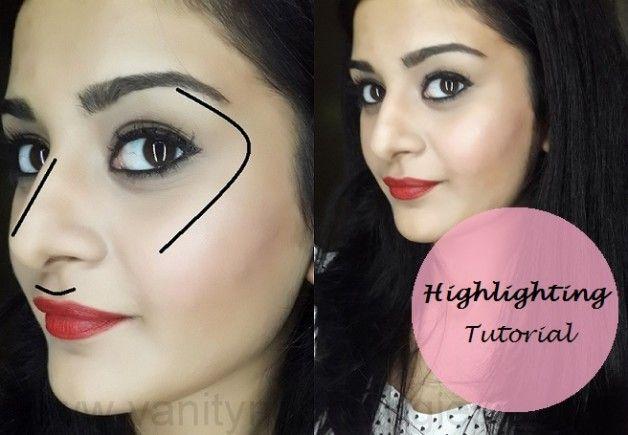 Tutorial: hur man markera ansiktet (Steg + makeup produkter används)