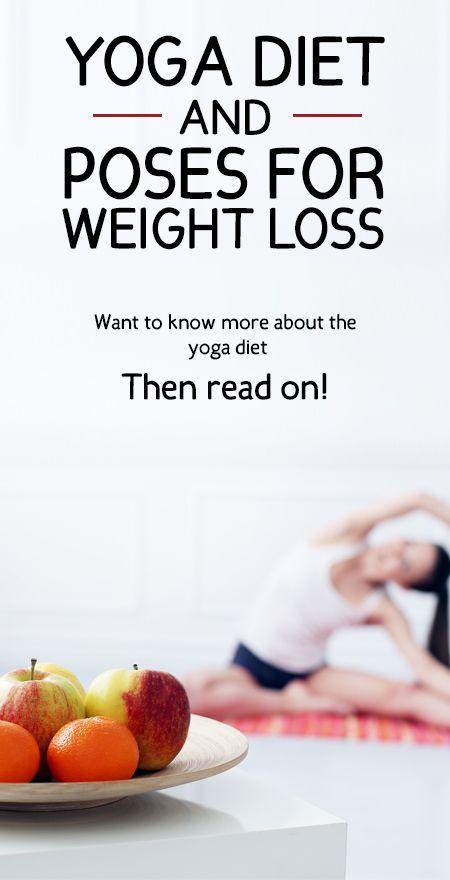 Yoga kost och poser för viktminskning